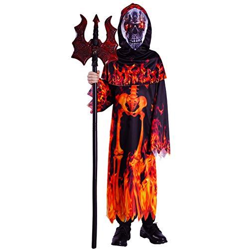 SEA HARE Costume da Diavolo per Bambini della Fiamma Infernale (S:4-6 Anni)