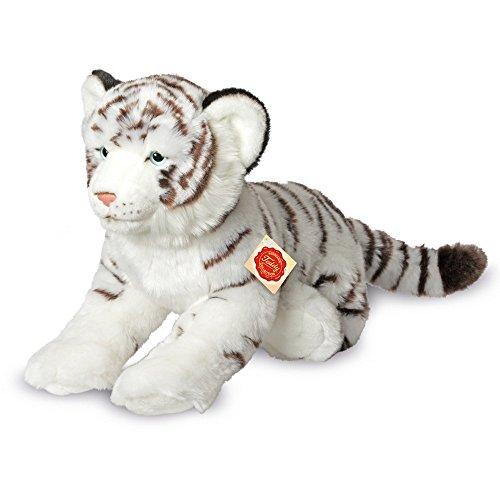 Teddy Hermann 90466 Tiger, Liegend, 40 cm, Weiß