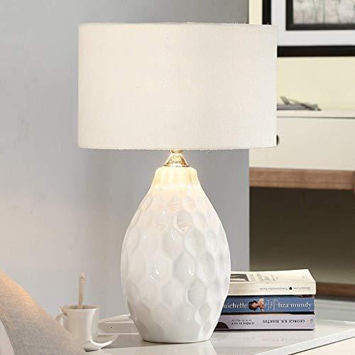 Lámpara De Mesa Luz Lámparas De Escritorio Luces Lámpara De Mesa De Cerámica Americana Dormitorio Lámpara De Noche Estudio Sala De Estar Sencillo Moderno Azul Cálido 48 Cm * 30 Cm Lámpara De Mesa Dur