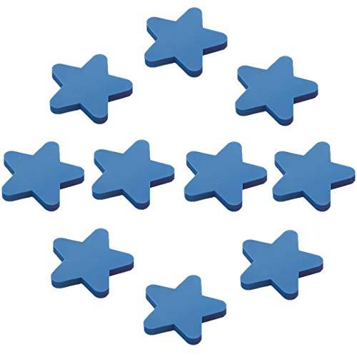 FBSHOP(TM) Lot de 10 poignées de tiroir pour Enfants en Plastique Motif Lune Jaune