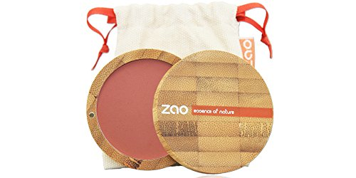 Zao Organic Makeup - Blush compacto marrón rosa oz 322-0,32.