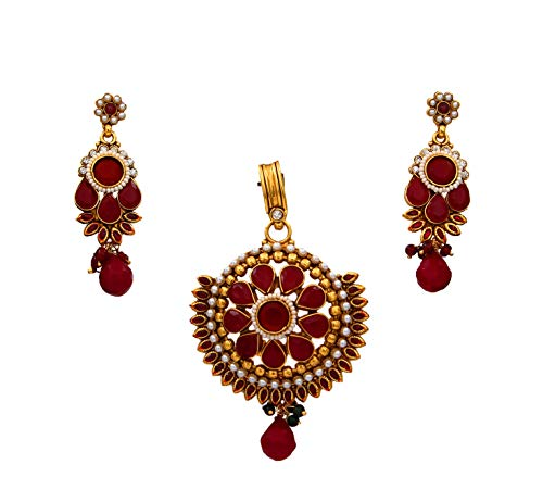 GemsOnClick cobre chapado en oro Multi Red Red-Crystal