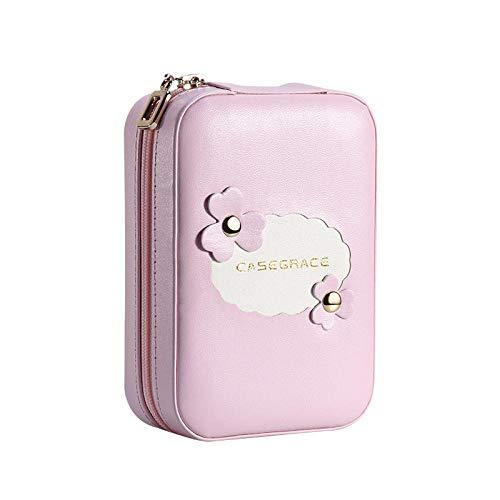 Sac à cosmétiques avec miroir petite boîte de rangement de maquillage de transport Mini cadeaux trousse de toilette 13 * 9 * 4.5 cm-Pink_13 * 9 * 4.5_cm