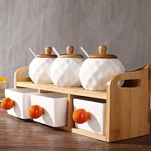 CLX Tassenhangbaum, Abnehmbarer Bambustassenhalter, Tassenorganizer, aufhänger und -Halter zur Lagerung von Kaffee und Tee mit 6 Haken,Braun