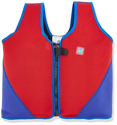 Splash About BJR10 - Chaleco Flotador para niños, Color Rojo/Azul Marino, 10-14 años
