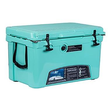MILEE - Iceland Cooler with Divider, Basket and Cup holder, 45 QT - Green