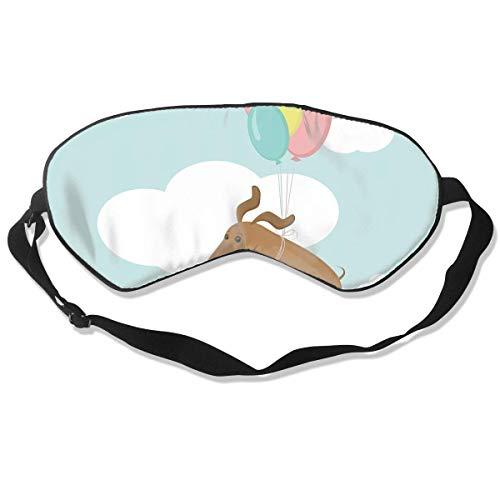 Oogmasker Dachshunds Baby Tekenen Ballon Slapen Masker Verstelbaar Ademend Slaap Masker Slapende Slaap Ogen Masker Oogdoek