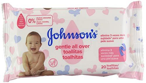 JOHNSON\'S toallitas para bebés envase 20 uds