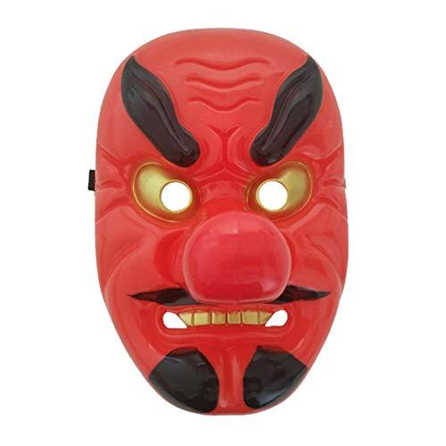 Jullyelegant Tengu de plástico Rojo máscara de Nariz Larga