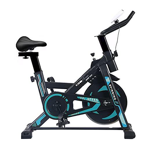 Bicicleta Spinning Estática Keboo Serie 500 con Volante de Inercia de 13 kg Asiento y Manillar Ajustable y Pantalla LCD