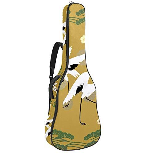 Bolsa de guitarra vintage funda gruesa esponja acolchada para guitarra con 2 bolsillos convenientes para 40 41 42 pulgadas acústica clásica guitarra japonesa grúa