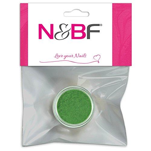 N&BF Velvet Puder Jungle Green (Grün) | Samtpuder für Gelnägel & Nagellack | Nailart Plüsch Pulver | Flocking Powder für Nageldesign | Puschel Puder Dust im Samt Look