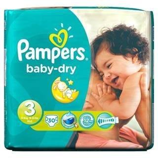 Pampers Baby Dry-Pannolini, misura 3, 4-9 kg), confezione da 30