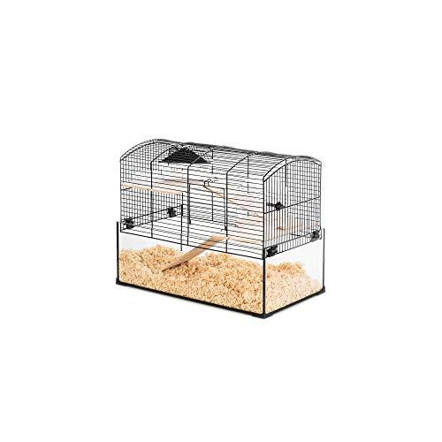 Zolux - Jaula Neo Panas pequeño roedor, 52 x 28,5 x 40 cm, Color Negro