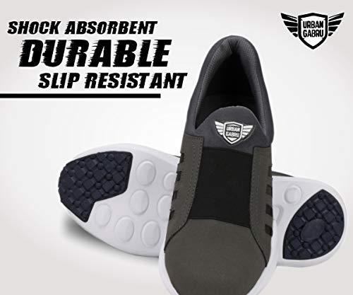 Product Image 5: urbangabru Men's Grey Casual Shoes, Sneakers Without Laces