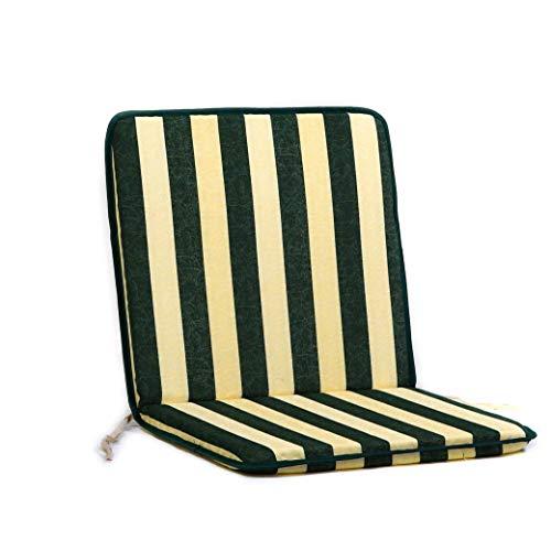 TECNOCUCI Coppia Cuscini con Schienale Basso per Sedie da Giardino - Diversi Colori Disponibili - Ideali per spazi Esterni (Giardini, Cortili, balconi)