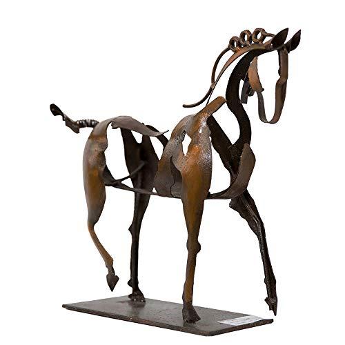 Schreiblichkeit Metall Skulptur - Pferd Adonis - 35x28x9cm - Statue als Deko - Figur Geschenk für Pferde Liebhaber, Reiter oder Reiterin oder die eigene Wohnung