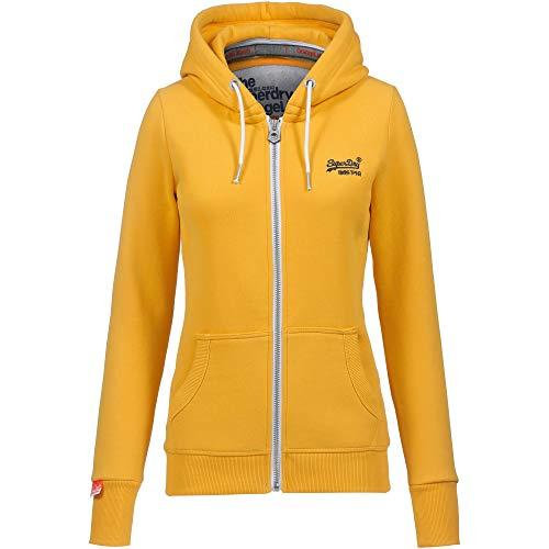Superdry Damen Orange Label Sweatjacke gelb XS