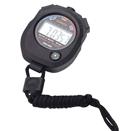 joyliveCY Sport Stoppuhr Professional Handheld Digital LCD Sport Stoppuhr Chronograph Zähler Timer mit Armband