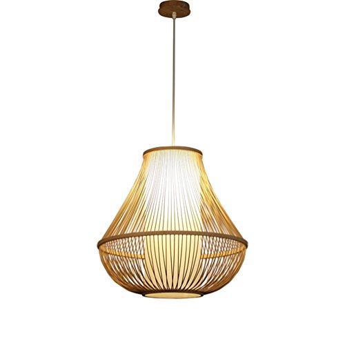Lustre en bambou, lumières de couloir Restaurant Décoration Ingénierie Lustre Créativité Lampe en bambou Restaurant Pont Café Lustre E27, 32 / 50CM Fil suspendu 150cm (taille : 32 * 32CM)