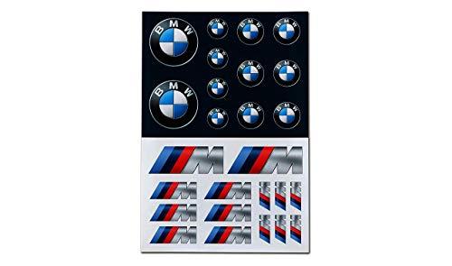 BMW Logo M Performance Aufkleber-Set Selbstklebende Sticker