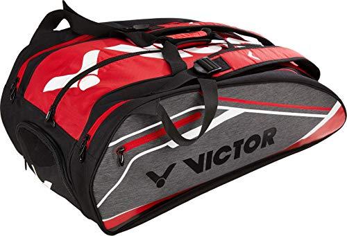VICTOR Schlägertasche Multithermobag für Badminton, Squash, Tennis, Speed Badminton (rot)