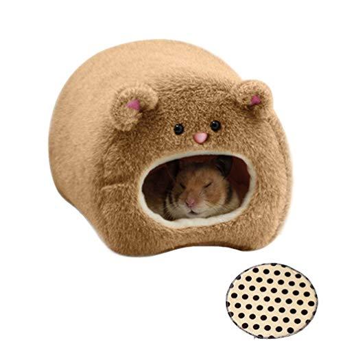 DOXMAL Tier Hamster Bett Warme Winter Kleine Spielbett Weiche Hauskäfig Nest Hamster Zubehör Hängen Ruhen für Rennmaus Junge Meerschweinchen Igel