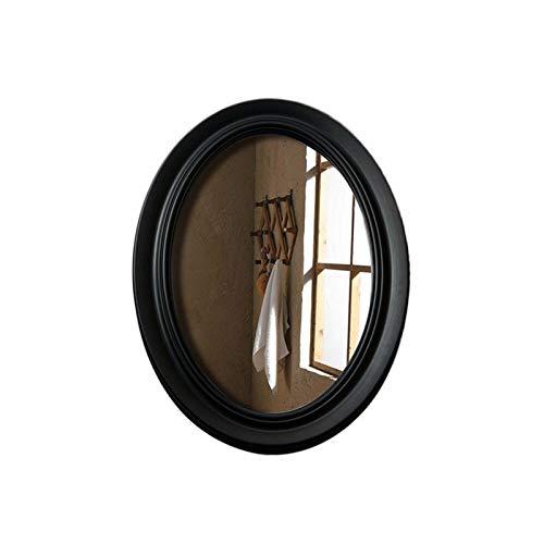 JJZI-L Espejo De Baño, Corredor De Porche Oval Longitud Completa Espejo Clásico Negro/Blanco Espejo Decorativo 54 * 79cm(Size:54 * 79CM,Color:Negro)