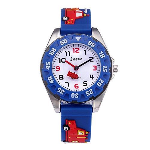 Keigos Kids Smart Watch Waterproof - Blue Firefighter Lovely Cartoon Watch for Girls and Boys, The Best Gift (2 Bracelets Included)