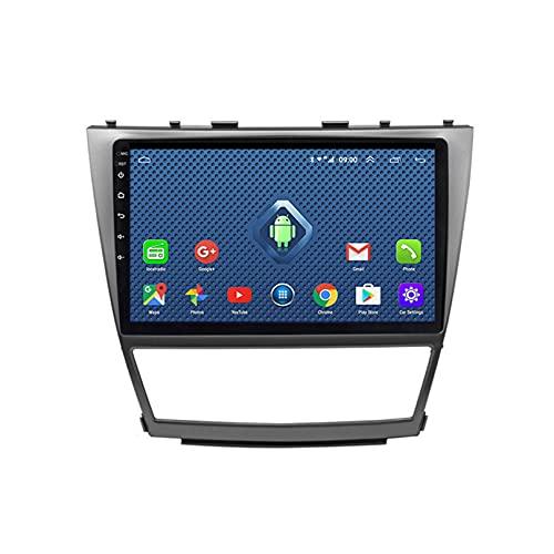 ADMLZQQ Android 2din Coche EstéReo Audio Player para Toyota Camry 2006-2011 9 Pulgadas GPS NavegacióN Radio De Coche con Control En El Volante/Manos Libres Bluetooth + CáMara Trasera,WiFi 1+16