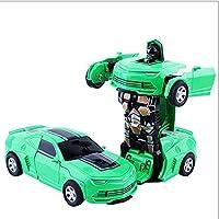 ZDHHD 変形した車の玩具子供男の子小物のような変形屋内屋外インパクトパターン車型ロボット安物の宝石慣性玩具車のマトリックス赤ちゃんの贈り物玩具前 (Color : G)