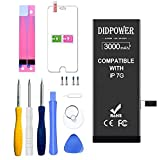 Didpower Reemplazo Compatible con iPhone 7 3000mAh [Super Capacidad] Batería con Kits de Herramientas de Reparación, Hoja de Vidrio Templado, Manual de Reparación