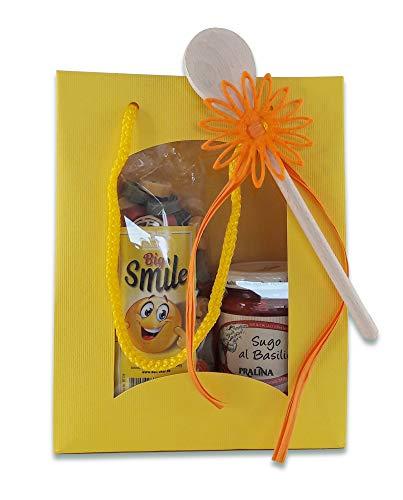 Nudel-Geschenkset Pasta Smile mit Sugo al Basilico