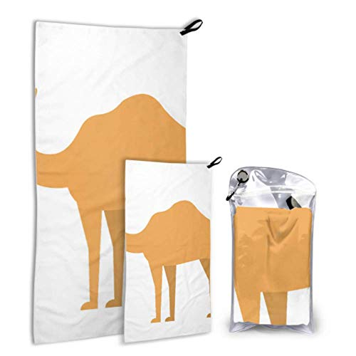 N\A Serious Camel Hardworking Outdoor 2 Pack Microfiber Drying Towel Camping Towel Set Dry Fasting Best for Gym Travel Backpacking Yoga Fitnes