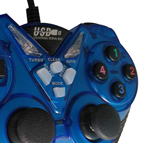 Xiangrun Kabelgebundener Controller für PC, USB-Gamecontroller für PC Computer Vibration Joystick Gamepads für Laptop
