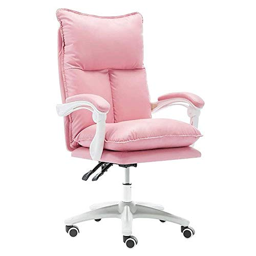 HAOSHUAI Stuhl Boss Büro Nettes Mädchen Rosa mit Fußstütze Nylonfuß (Größe: Rosa) (Size : Pink)
