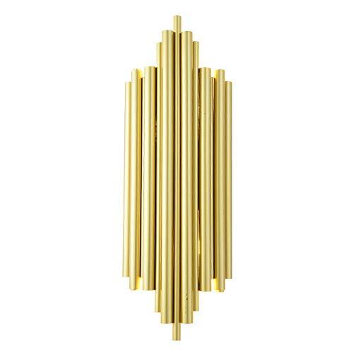 Lámpara de pared de tubo de aluminio dorado posmoderno Aplique G9 Nórdico Simplicidad creativa Dormitorio junto a la cama Accesorio de iluminación decorativo Salón Comedor Superficie de la pared Apliq