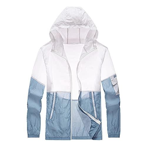 Verano de protección solar chaqueta delgada casual con capucha abrigos hombres Quick Dry chaquetas