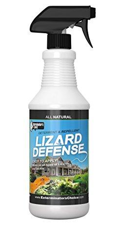 Exterminators Choice Lizard Defense Spray | 32 Ounce | Non-Toxic Lizard Repellent Spray | Quick and Easy Pest Control to Keep Lizards Away…