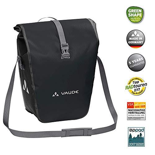 VAUDE Aqua Back Fahrrad Tasche – wasserdichte Gepäckträger Tasche im praktischen 2er Set – Fahrradtasche aus robustem & PVC-freiem Planenmaterial – Made in Germany - 2
