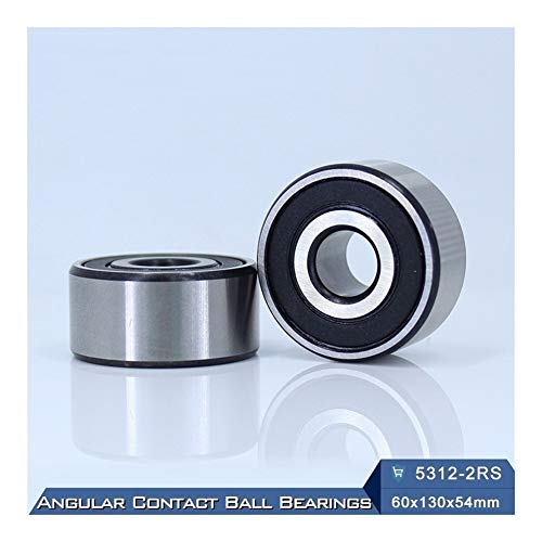 1 PC Axial Double Row Angular Contact Bearings 5200 2RS Bearing 10x30x14.3 mm