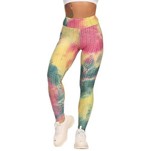 QTJY Pantalones de Yoga sexys para Levantar la Cadera, Pantalones Deportivos para Mujer, Mallas sin Costuras de Cintura Alta, Pantalones Deportivos Push-up E XL