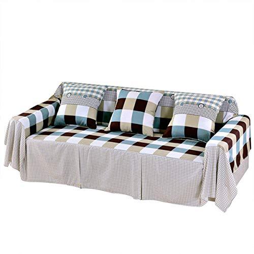 LUYOYO Fundas de sofá lavables de 1/2/3/4 plazas, fáciles de deslizar, elásticas, suaves fundas protectoras para sillas de sofá (color 7 colores claros con mando a distancia)