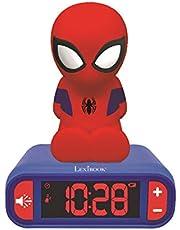 Lexibook- Marvel, Spiderman-Reloj Despertador con Pantalla LCD Digital y luz de Noche integrada, quitamiedos niño RL80 Niño-Rl800, Color azul/rojo, Talla Única , color/modelo surtido