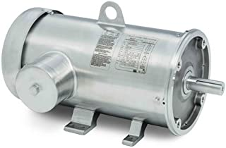 Baldor Electric Company CFSWDM3614T-E - Foot Mounted AC Washdown Motor-Encapsulated -Food Safe - General Purpose Motor - (Stainless Steel), 3 ph, 2 hp, 1200 rpm, 230/460 V, 184TC Frame, TE