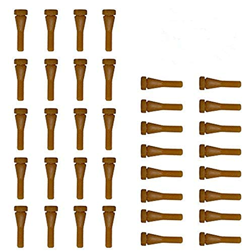 Huatuo® 50 PCS dedos de goma piezas para plucker codorniz con buena c