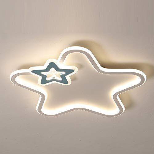 40W LED Lámpara de Techo Plafón Infantil Luz Blanco Estrella Cuarto de Niños Atenuable Con Mando a Distancia Iluminación Interior Decoracion Dormitorio Corredor Estudio Ø50*5.5CM