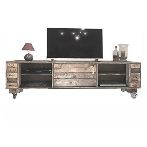 Palettenmöbel Kommode/Sideboard, TV-Board KAPALUA, Neuholz gebeizt in klassischer Paletten Optik, jedes Teil ist einzigartig und Wird in Deutschland in Handarbeit gefertigt