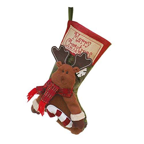 DressLksnf Candy Navidad Socks Bag Santa Claus Bolsa Navidad Decoracion Calcetines Tallas...