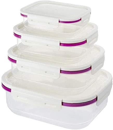 Nevera Contenedores de Almacenamiento de Productos de ahorro de almacenamiento de alimentos recipiente rectangular de plástico for frutas y verduras hermética caja Domésticos de Cocina Refrigerador mu